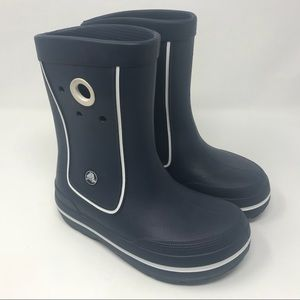 Kids Crocband Jaunt Rain Boot Navy/White